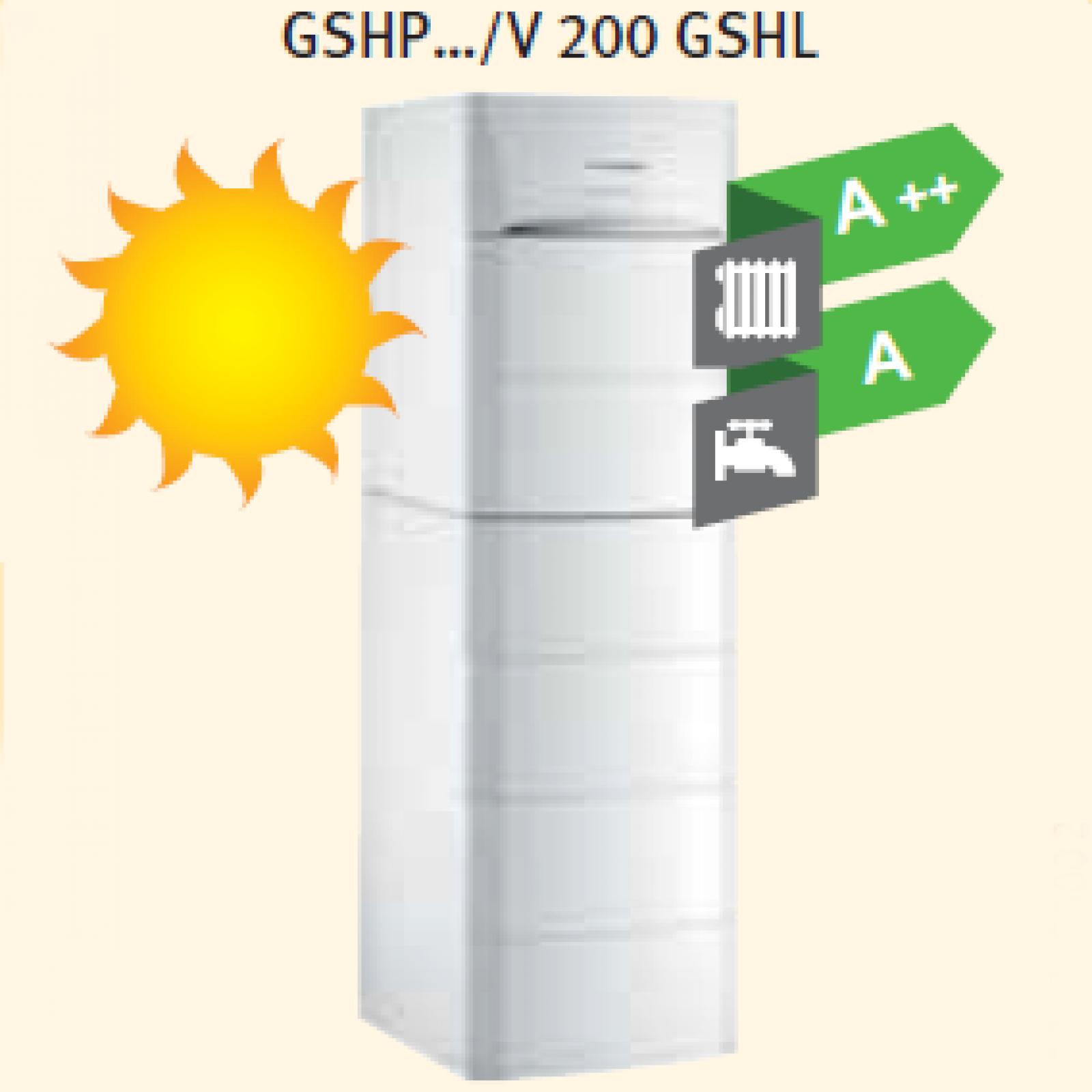 Тепловой насос De Dietrich GSHP GSHL …/V 200 GSHL, GSHP …/B 200 GSHL