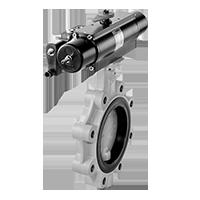 Dungs HFSV… Клапан безопасности высокого расхода, пневмопривод, одноступенчатый откидной клапан