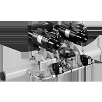 Dungs HF Bloc-… Комбинация двойных клапанов из одноступенчатого откидного клапана, пневмопривод 5 bar