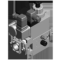 Dungs MB-D(LE) 407-412 B07 GasMultiBloc® (газовый мультиблок), модуль регулирования и безопасности, одноступенчатый режим эксплуатации, встроенный байпасный клапан