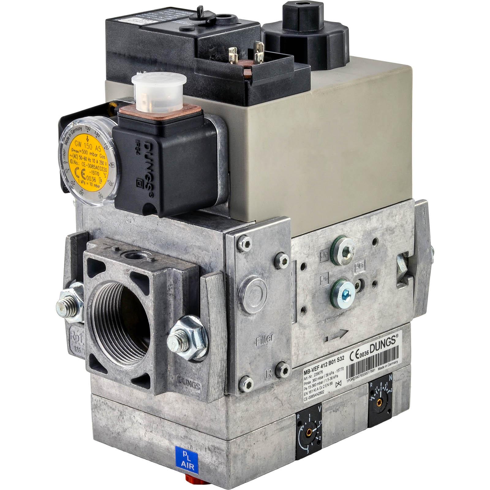 Бесступенчатый мультиблок Dungs MB-VEF 407-412 B01 GasMultiBloc®, модуль регулирования и безопасности, бесступенчатый плавный режим эксплуатации