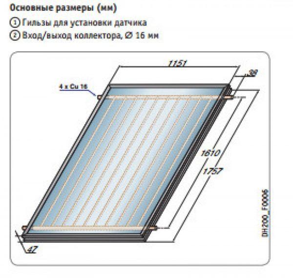 Трубчатый вакуумный солнечный коллектор DIETRISOL PRO D230