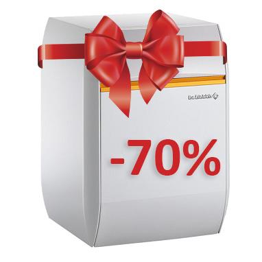 Новогодний подарок -70% на Котлы De Dietrich
