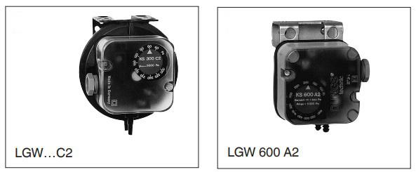 Дифференциальный датчик-реле давления для воздуха ROHS Dungs - монтаж
