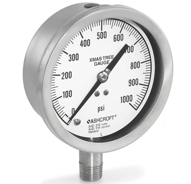 Промышленный манометр для фонтанной арматуры Ashcroft. Модель 1020S.