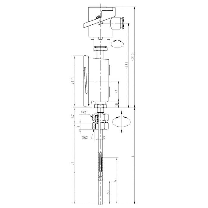 Комбинированный прибор для измерения температуры Rueger
